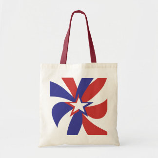 Patriotic Red White and Blue Budget Tote Bag