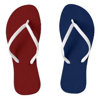 Patriotic Red White and Blue Flip Flops
