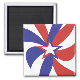 Patriotic Red White and Blue Refrigerator Magnet