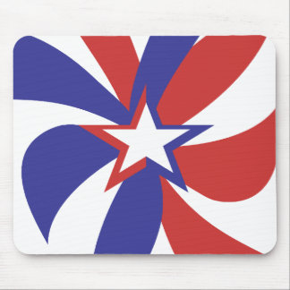 Patriotic Red White and Blue Mouse Mat