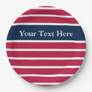 Patriotic Red White and Blue Paper Plates