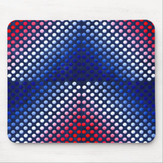 Patriotic, red white and blue pattern mouse pad