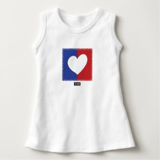 Patriotic Red White And Blue Unity Heart Dress
