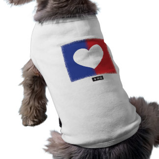 Patriotic Red White And Blue Unity Heart Sleeveless Dog Shirt