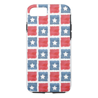 Patriotic Red White and Blue Watercolor iPhone 7 Case