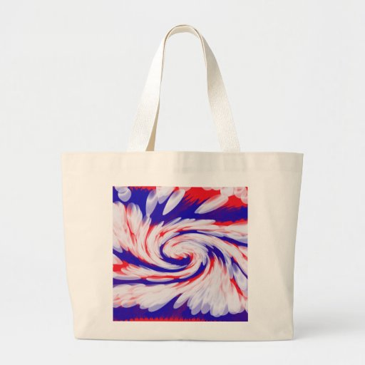 Patriotic red white blue abstract tote bag