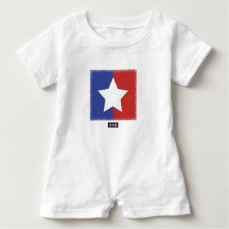 Patriotic Red White Blue American Unity Star Baby Bodysuit