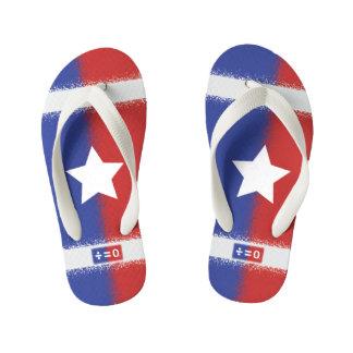 Patriotic Red White Blue American Unity Star Flip Flops