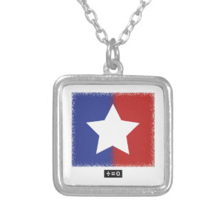 Patriotic Red White Blue American Unity Star Silver Plated Necklace