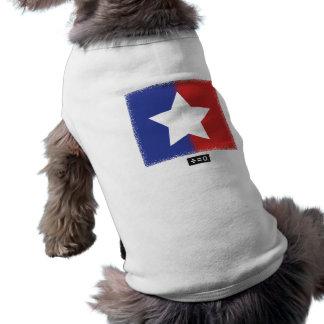 Patriotic Red White Blue American Unity Star Sleeveless Dog Shirt