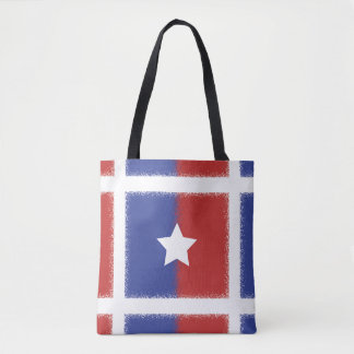 Patriotic Red White Blue American Unity Star Tote Bag
