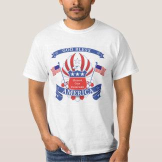 Patriotic Red, White & Blue Bald Eagle T-Shirt
