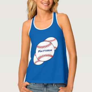 Patriotic Red White Blue Baseball Sports Tank Top