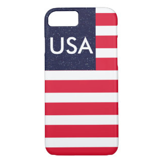 Patriotic Red White Blue CricketDiane USA America iPhone 7 Case