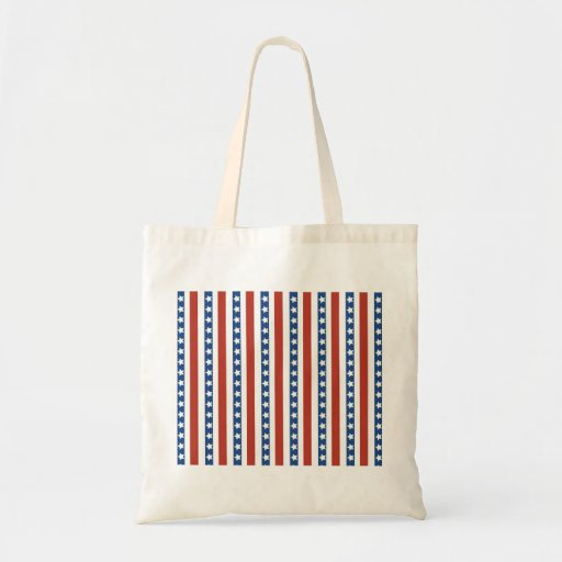 Patriotic Red White Blue Stars and Stripes Freedom Canvas Bag