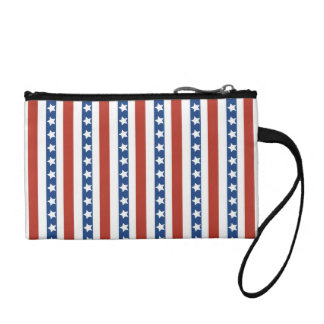 Patriotic Red White Blue Stars and Stripes Freedom Coin Purses
