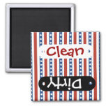 Patriotic Red White Blue Stars and Stripes Freedom Square Magnet