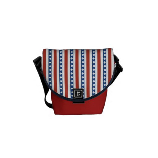 Patriotic Red White Blue Stars and Stripes Freedom Courier Bag