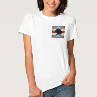 Patriotic Red White Blue with Eagle T-shirt
