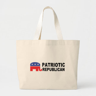 Patriotic Republican with Elephant Canvas Bags