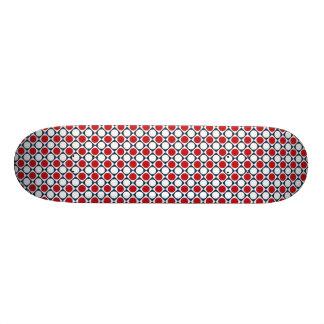 Patriotic Retro Dots Pattern Custom Skate Board