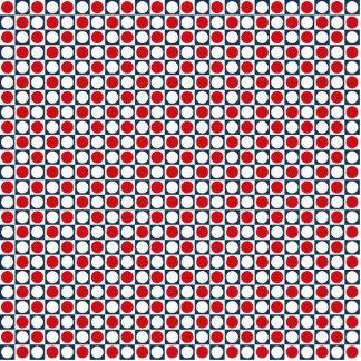 Patriotic Retro Dots Pattern Photo Sculpture Magnet
