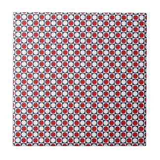 Patriotic Retro Dots Pattern Small Square Tile