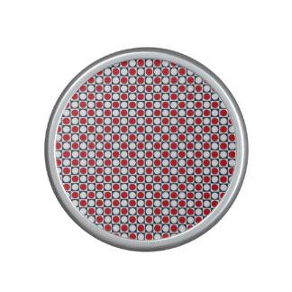 Patriotic Retro Dots Pattern Speaker