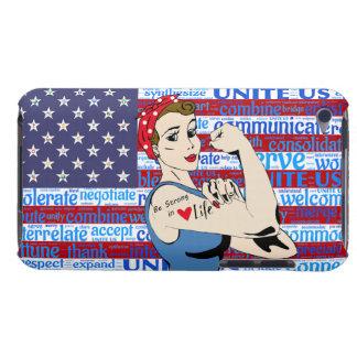 Patriotic Retro Lady Cell Phone Case