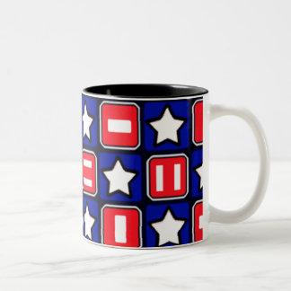 Patriotic Retro RWB Stars Bars Coffee Mugs
