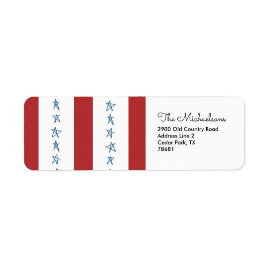 Patriotic Return Address Labels