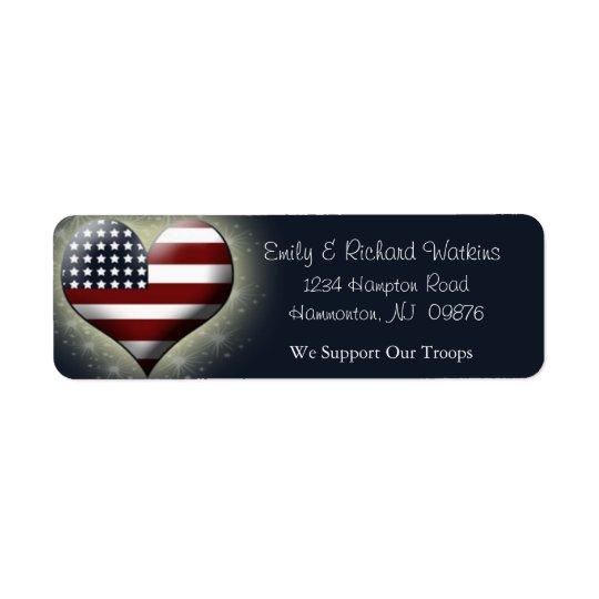 Patriotic Return Labels