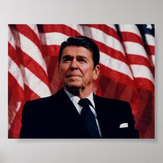 Patriotic Ronald Reagan Image Posters