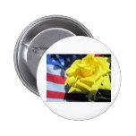 Patriotic Rose Button