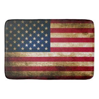 Patriotic Rustic American Flag Bath Mat