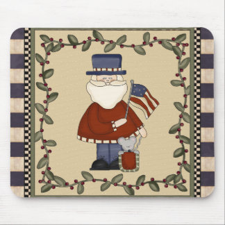 Patriotic Santa Christmas Mousepad