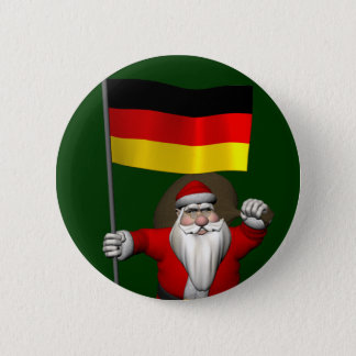 Patriotic Santa Claus With Ensign Of Germany 6 Cm Round Badge