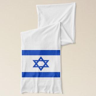 Patriotic Scarf with Flag of Israel