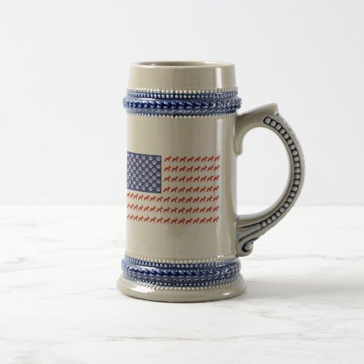 Patriotic Schnauzer dog/USA Mug