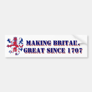 Patriotic Scottish Great Britain design Bumper Sticker