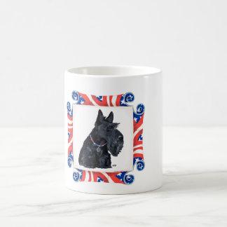 Patriotic Scottish Terrier Basic White Mug