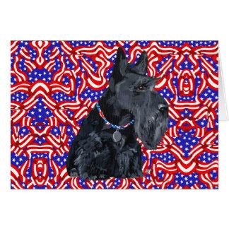 Patriotic Scottish Terrier Card