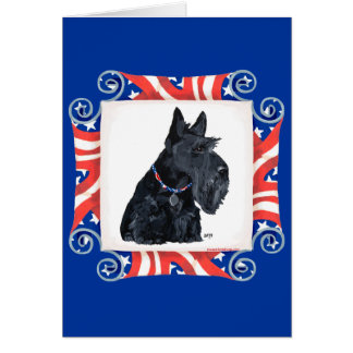 Patriotic Scottish Terrier Greeting Card