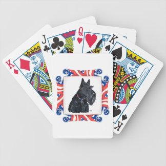 Patriotic Scottish Terrier Poker Cards