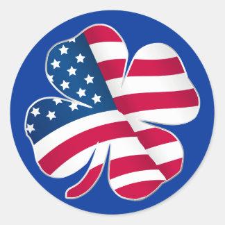Patriotic Shamrock III Sticker