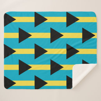 Patriotic Sherpa Blanket with Bahamas flag
