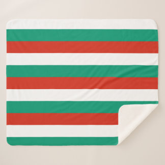 Patriotic Sherpa Blanket with Bulgaria flag