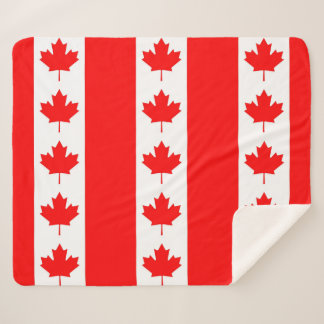 Patriotic Sherpa Blanket with Canada flag