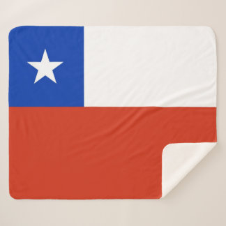 Patriotic Sherpa Blanket with Chile flag