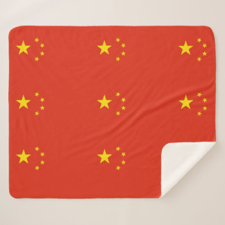 Patriotic Sherpa Blanket with China flag